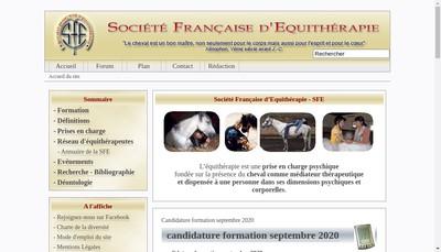 Site internet de Societe Francaise d'Equitherapie