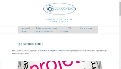Site internet de Sgca Contact
