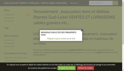 Site internet de Transports Sh44