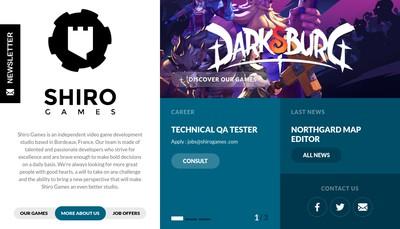 Site internet de Shiro Games