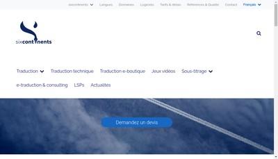 Site internet de Sixcontinents