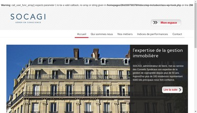 Site internet de Socagi