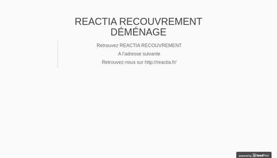Site internet de Reactia Recouvrement