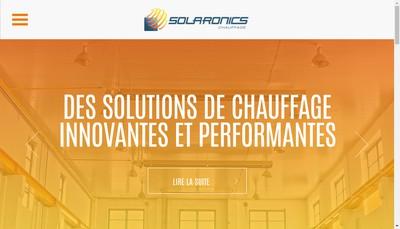 Site internet de Solaronics Chauffage