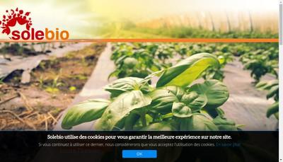 Site internet de Solebio Sud Est