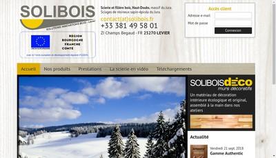 Site internet de Solibois