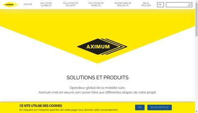 Site internet de Aximum Produits de Securite