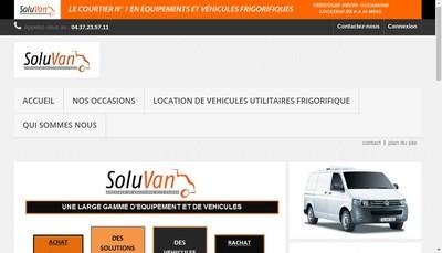 Site internet de Soluvan Frigo