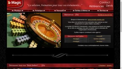 Site internet de So Magic Evenements