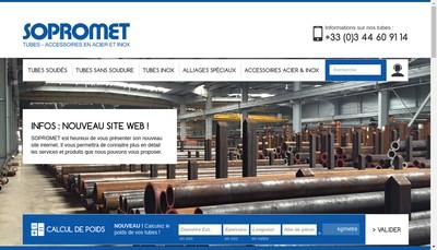 Site internet de Sopromet