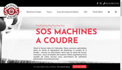 Site internet de Sos Machines a Coudre
