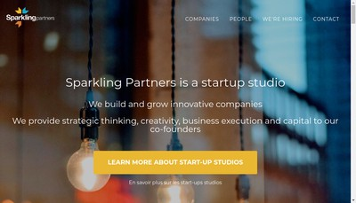 Site internet de Sparkling Tech