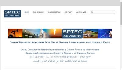 Site internet de Sptec Advisory