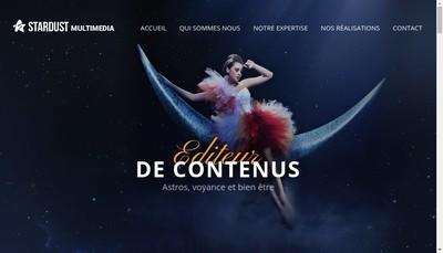 Site internet de Stardust Multimedia