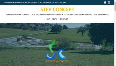 Site internet de Step Concept