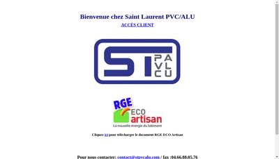 Site internet de Saint Laurent Pvc - Aluminium