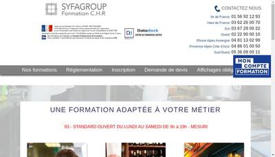 Site internet de Syfagroup
