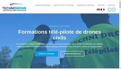 Site internet de Techni Drone