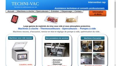 Site internet de Techni-Vac