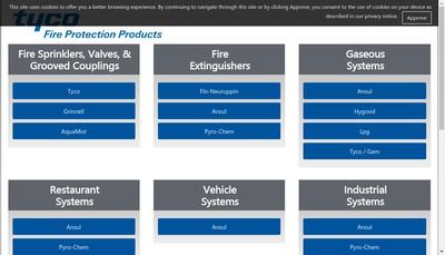 Site internet de Tyco Building Services Products (France)