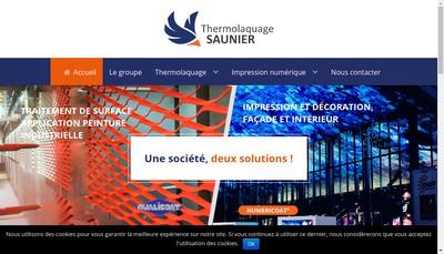 Site internet de Thermolaquage Saunier