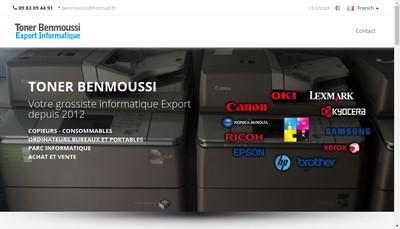 Site internet de Toner Benmoussi