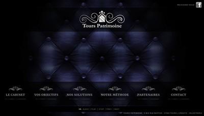 Site internet de Tours Patrimoine