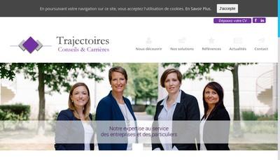 Site internet de Trajectoires Conseils & Carrieres