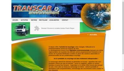 Site internet de Transcar Environnement