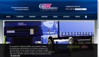 Site internet de Societe Gariou Freres