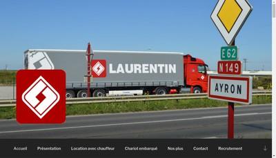 Site internet de Transports Laurentin