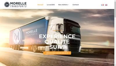 Site internet de Transport Morellle