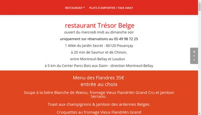 Site internet de Tresor Belge