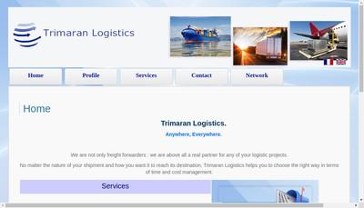 Site internet de Trimaran Logistics