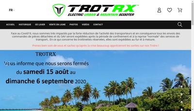 Site internet de Trotrx