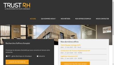 Site internet de Trust Rh
