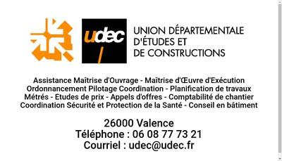Site internet de Udec