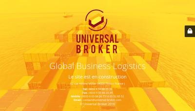 Site internet de Universal Broker