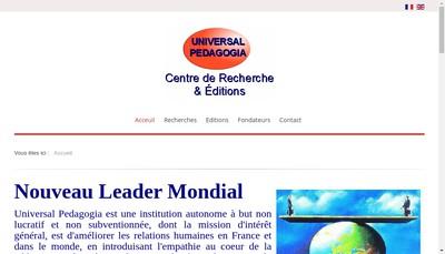 Site internet de Universal Pedagogia