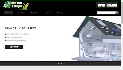 Site internet de Uni'Vert Energie