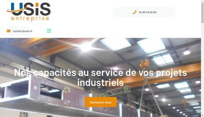 Site internet de Usis Entreprise