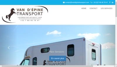 Site internet de Van d'Epine Transport