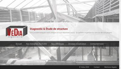 Site internet de Vedia Ingenierie
