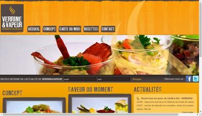Site internet de Verrine & Vapeur
