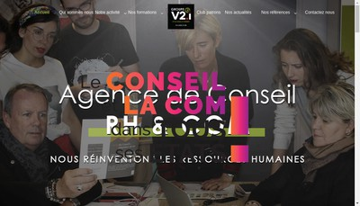Site internet de Vision 2I Conseil By Mix