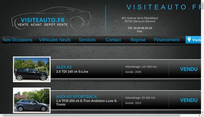 Site internet de Visiteauto Fr