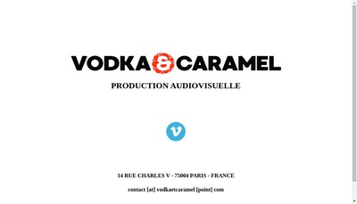 Site internet de Vodka & Caramel