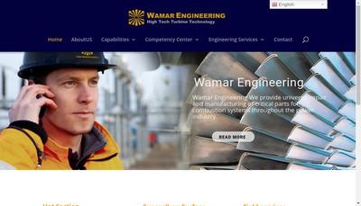 Site internet de Wamar Engineering SAS