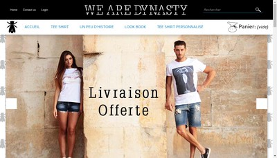 Site internet de We Are Dynasty