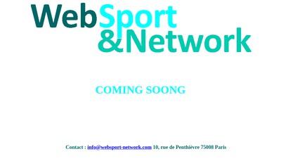 Site internet de Web Sport & Network